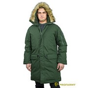 Куртка зимняя офисная МО Аляска хаки фото