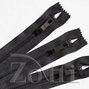 Молния пластиковая, черная, бегунок №73 - 30 см фото