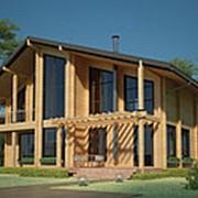 Проект дома из клееного бруса CKD-360 фото