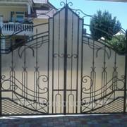 Ворота для дома с ковкой №15 фото