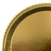 Поднос картон.кругл.золото 40 см. (пакет 25 шт.) 65179 фото