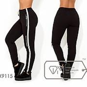 Спортивные штаны женские с лампасами ТЖ/-035 - Черный фото