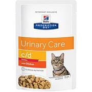 Hill's PD 85г пауч c/d Urinary Care Stress Chicken Влажный корм диета для взр кошек при стрес Курица фото