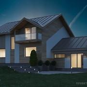 Проект дома на склоне D-186 фото
