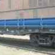 Железнодорожная грузовая платформа. Нашим предприятием в 2009 году освоены и выпускаются борт платформы торцевой и борт платформы продольный. фото