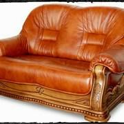 Перетяжка мягкой мебели (натуральная кожа) фото