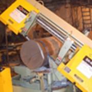 Порезка металла на ленточнопильном станке фото