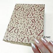 Коробочка Крафт Алфавит Цвет дерево (13х16х7см) фото