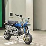 Мопед мокик Honda Monkey рама Z50J гв 1985 задний багажник пробег 9 т.км синий фото