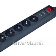 Сетевой фильтр EnerGenie SPG5-C-15 5 розеток, 4,5 м, Black , код 50429 фото