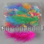 Перья цветные 13-15 см 50 шт 570261 фото
