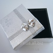 Серебряная подарочная коробочка для украшений фото