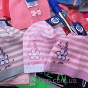 Детские шапки тонкая вязка полоска от 4 до 9 лет, код товара 234340630 фото
