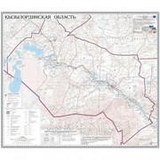 Карта областная Кызылординская, масштаб 1:1 000 000, 710*830 мм, не ламинированная фото