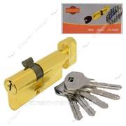 Секрет цинковый Imperial ZNК70 (со смещением 40/30) (англ.ключ/повор, золото) (5 ключей) (ZNK70 40/30РВ) №880656 фото