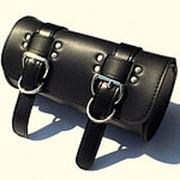 Универсальная кожаная сумка цвет чёрный ( american chopper сумка для инструментов ) Производства Японии фото