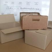 Ящик из гофрированного картона фото