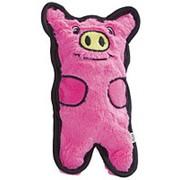 ОН игрушка для собак Invinc Mini Свинка без наполнителя с пищалками 12см фото