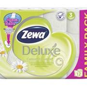 Туалетная бумага ZEWA Deluxe 3-слойная с ромашкой, 12 рулонов фото
