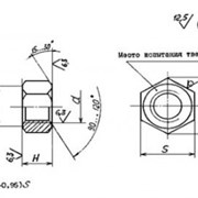 Гайки для фланцевых соединений по ОСТ 26-2041-96 фото