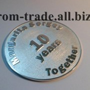 Монета из серебра на заказ фото
