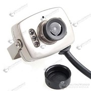 Миниатюрная цветная CCD камера наблюдения с водонепроницаемым корпусом, микрофоном и лампами ночного видения фото