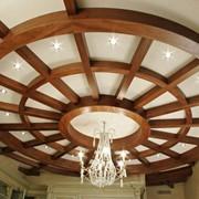 Потолки подвесные деревянные фото