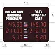 Ультратонкое электронное табло Обмен валют фото