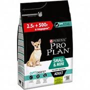 Pro Plan 2.5кг+500г Small&Mini Adult Сухой корм для собак мелких и карликовых пород чув&пищ Ягненок фото