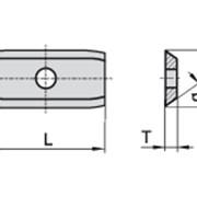 Сменные ножи с 2х сторонней заточкой 24×12×1,5 Ceratizit 82000067 фото