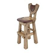 Деревянный барный стул №4 фото