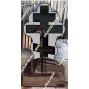 Крест гранитный модель К-006 фото