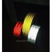 Светоотражающая лента для контурной маркировки клейкая 50 мм. фото