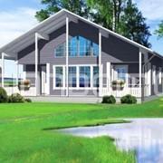 Дачный каркасный дом Сирень фото