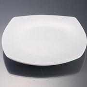 Тарелка квадратная фарфоровая фото