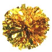 Помпоны для черлиденга золото фото