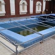 Навессы металлические для бассейнов фото