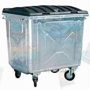 Евроконтейнер для ТБО с пластиковой крышкой (разобранный) 1100 л. фото