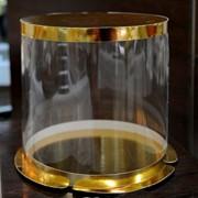 Коробка для торта круглая серии Кристалл (400*280) фото
