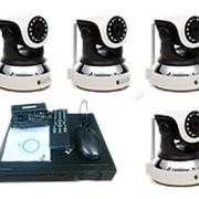 """Комплект видеонаблюдения """"Zodikam Combo Home 4 WiFi V2"""" (4 поворотные IP Wi-Fi камеры+регистратор) фото"""