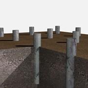 Фундамент на буронабивных сваях за 3500 рублей/свая. фото