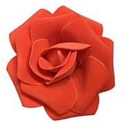 Декор свадебный Роза красная 12см 1шт фото