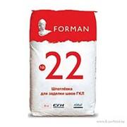 Шпаклевка гипсовая универсальная ФОРМАН 22 / Forman № 22 для заделки швов и выравнивания . 25 кг фото
