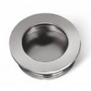 Ручка врезная алюминиевая круглая фото