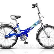 Односкоростной стальной складной велосипед. фото