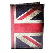 Обложка для паспорта из кожзама Флаг Британии фото