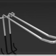 Крючок двойной для сетки КД-100 КД-150, КД-200, КД-250,КД-300 фото