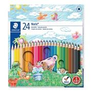 Набор карандашей цветных Staedtler Noris, 24 цвета, картонная коробка 24 цвета фото