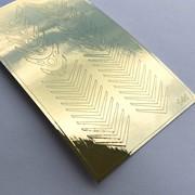 Металлизированные наклейки №141 золото ххх фото