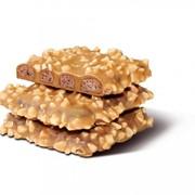 Печенье Плетеночка шоколадная сахарное глазированное с арахисом фото
